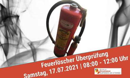 Feuerlöscher Überprüfung: 17.07.2021 | 08:00-12:00Uhr